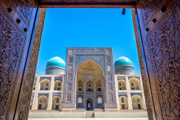 Colourful mosque in Bukhara