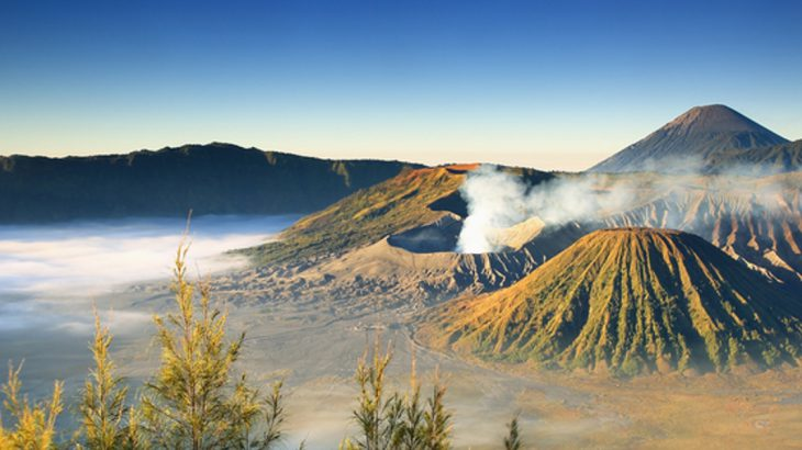 Views over Mt Bromo at sunrise
