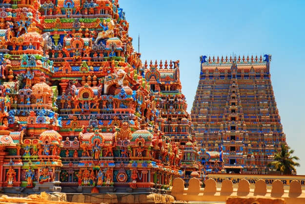 Colourful temples of Tamil Nadu