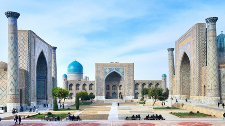 Architecture of in the UNESCO old centre of Samarkand