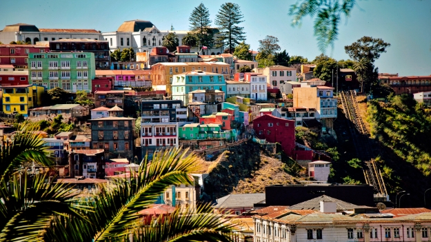 Colourful neighhourhoods of Valparaiso