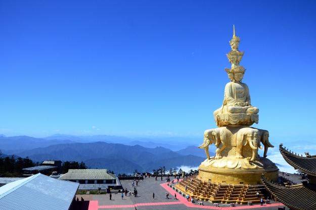 Views from the peak of Mt Emei