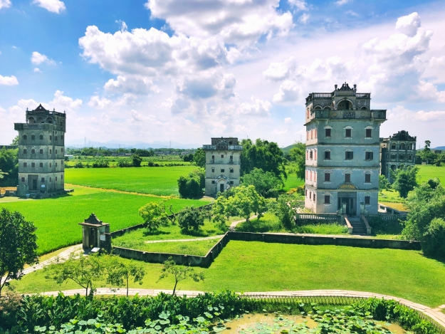 The spectacular Kaiping Towers in the southern China countryside