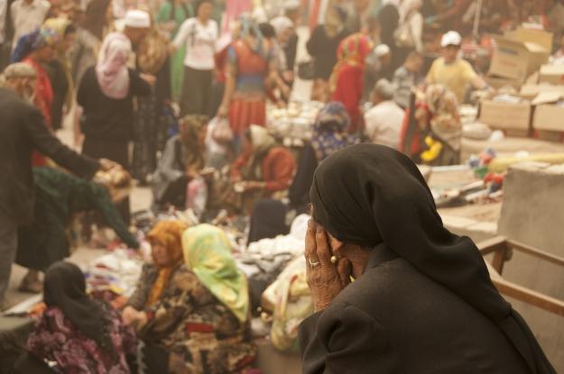 The vibrant Sunday Market in Kashgar