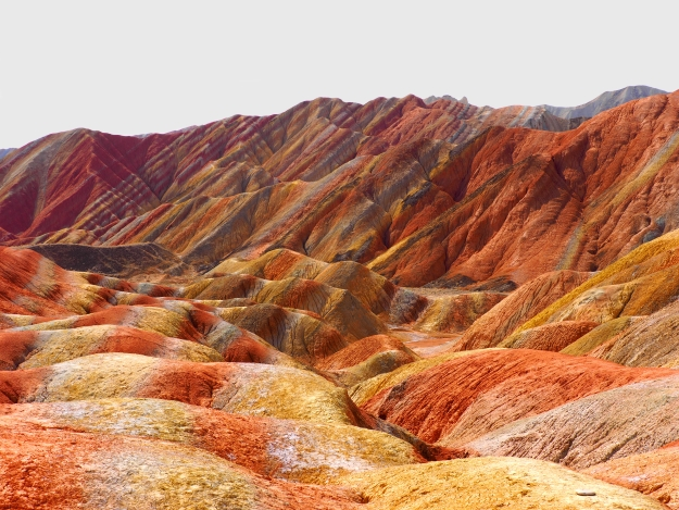 The colours of the Rainbow Mountains of Danxia