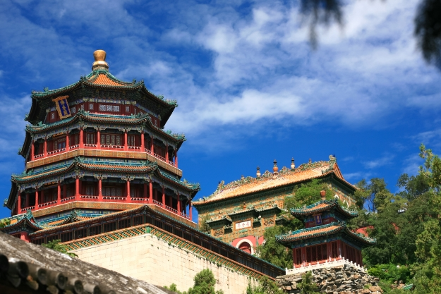 The beautiful architecture of the Summer Palace