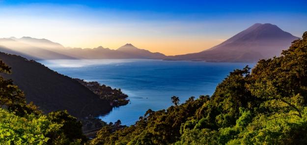 Sunset over Lake Atitlan, Guatemala