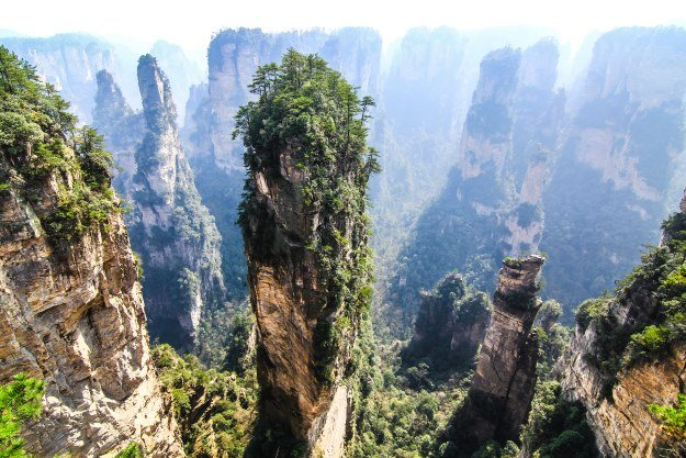 The limestone peaks of Zhangjiajie