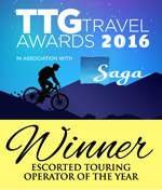 ttg escorted tour operator of the year 2016
