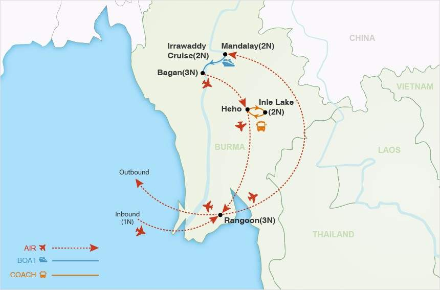 Burma and the Irrawaddy map