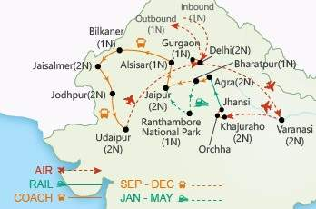 Enticing India map
