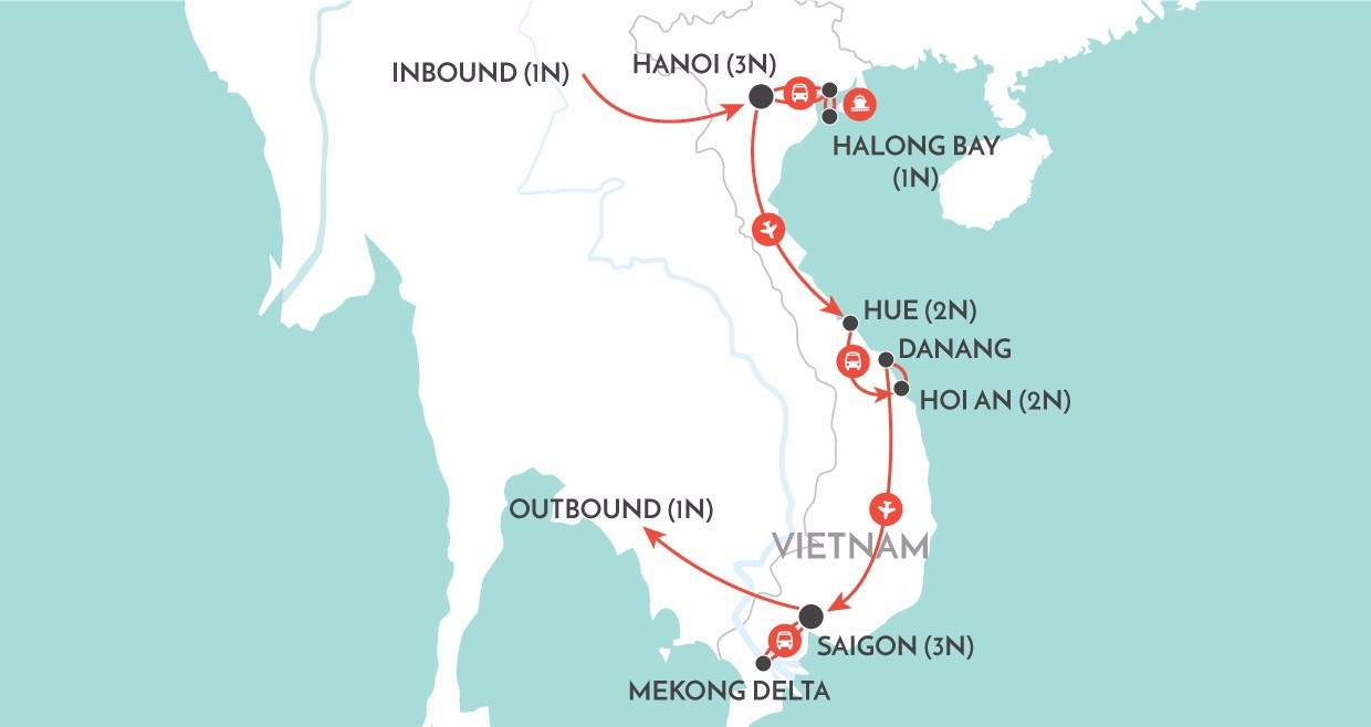 Vietnam Explorer map