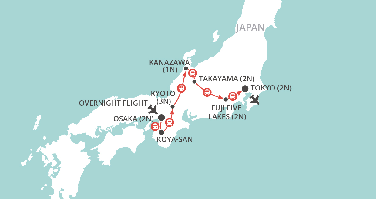 Times News Cherry Blossom Tour 2020 map