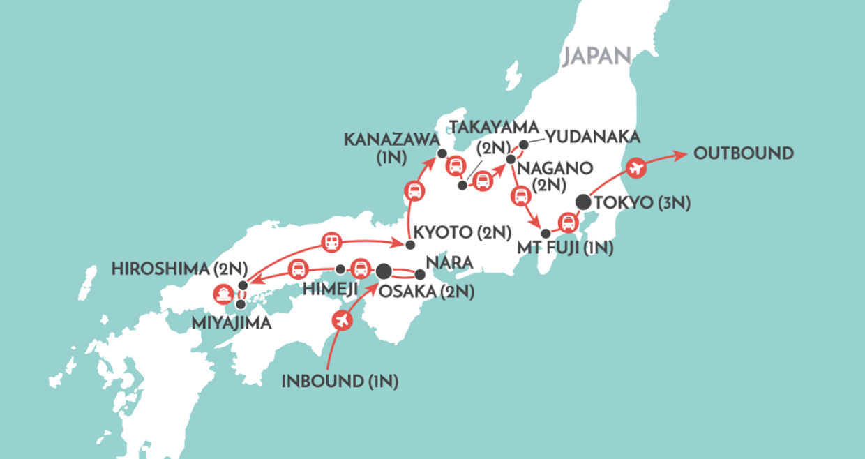 Japan Uncovered map