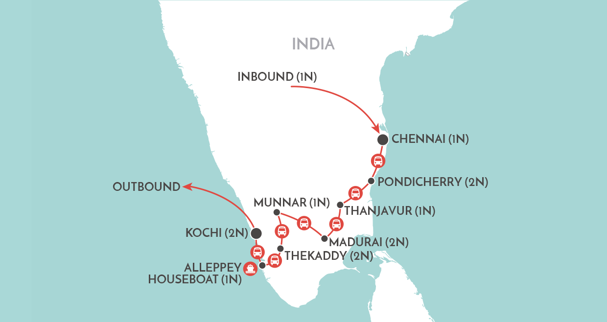 Classic South India map