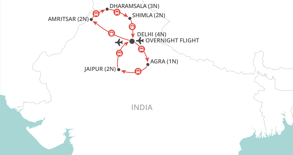 Northern India Discovery map