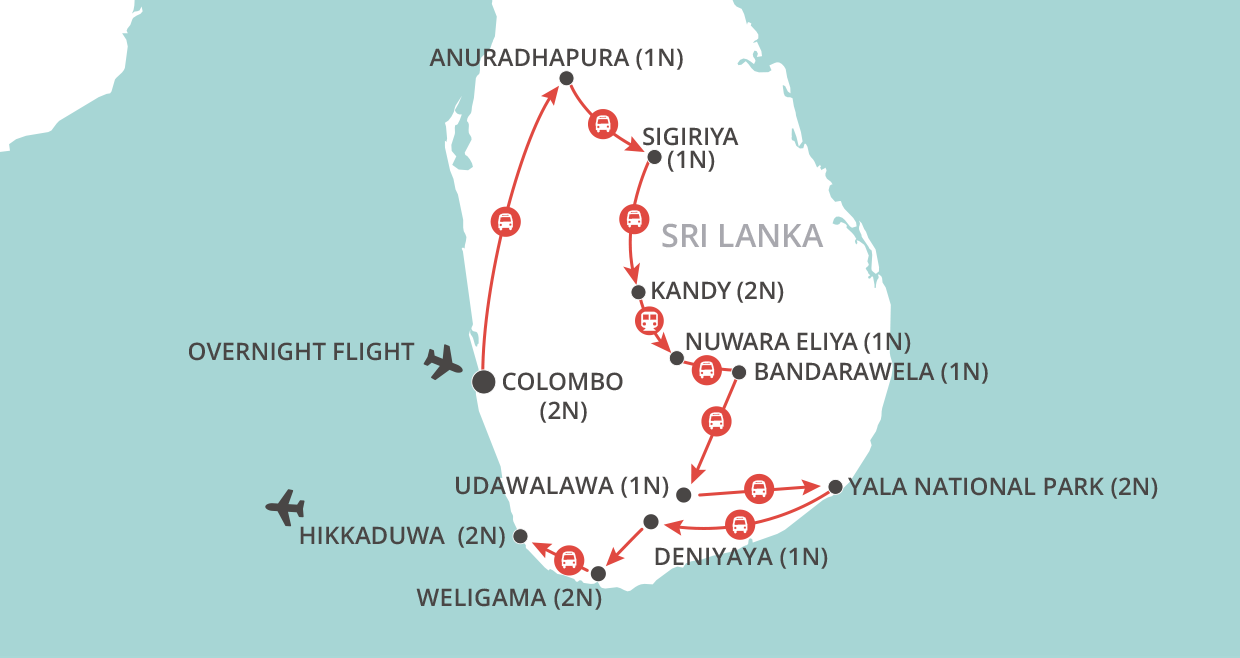 Sri Lanka Explorer map