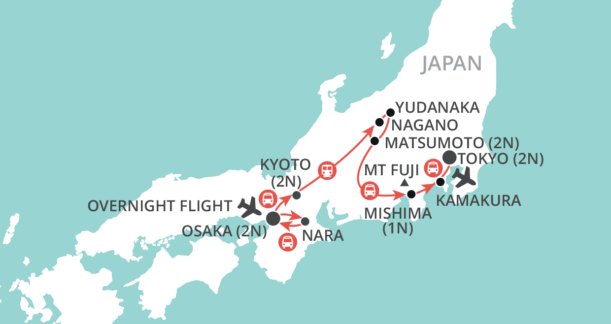 Experience Japan map