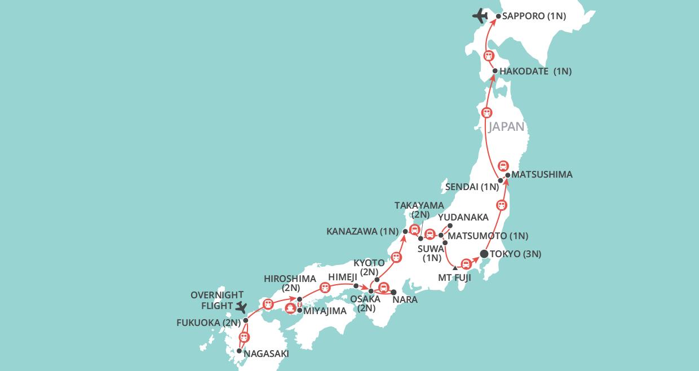 Japan By Rail map