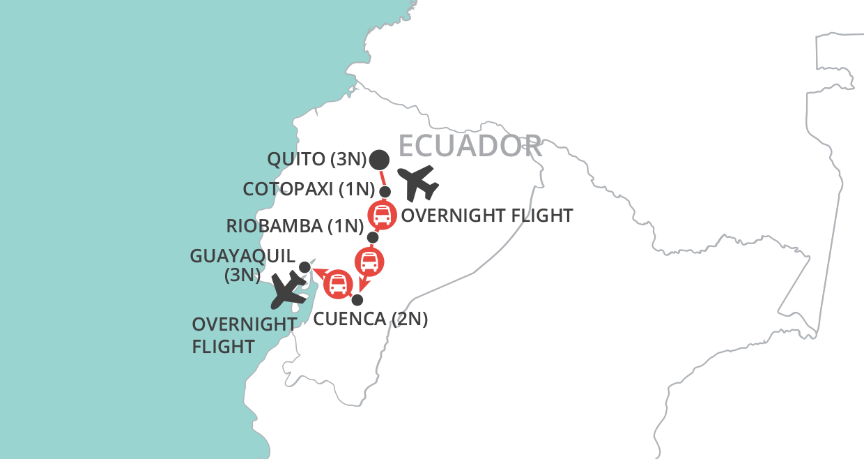 Ecuador Highlights map