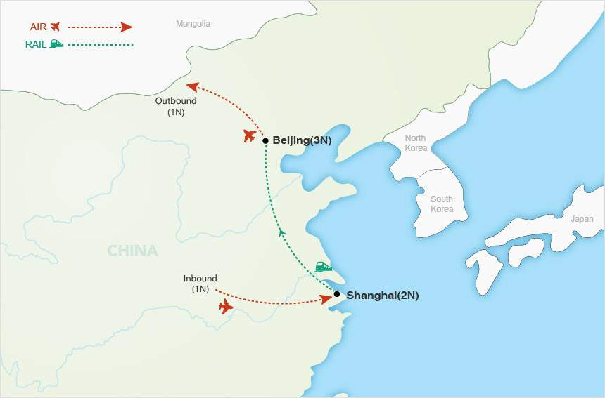 China Express map