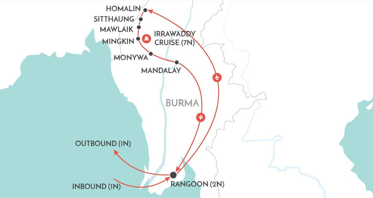 Magical Chindwin map