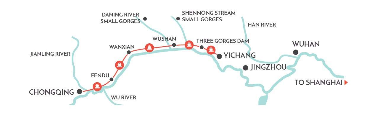 yangtze river map from wendy wu tours