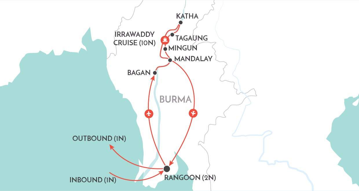 Upper Irrawaddy Explorer map