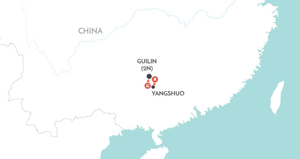 Guilin Short Stay map