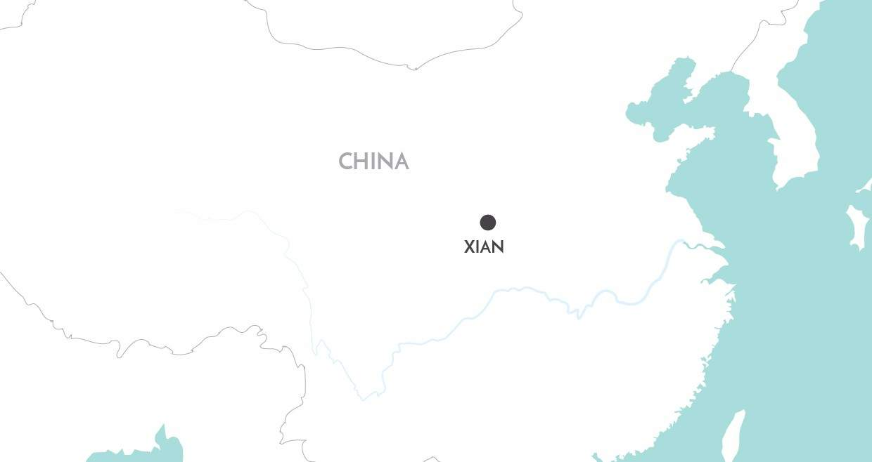 Xian Private Day Tour map