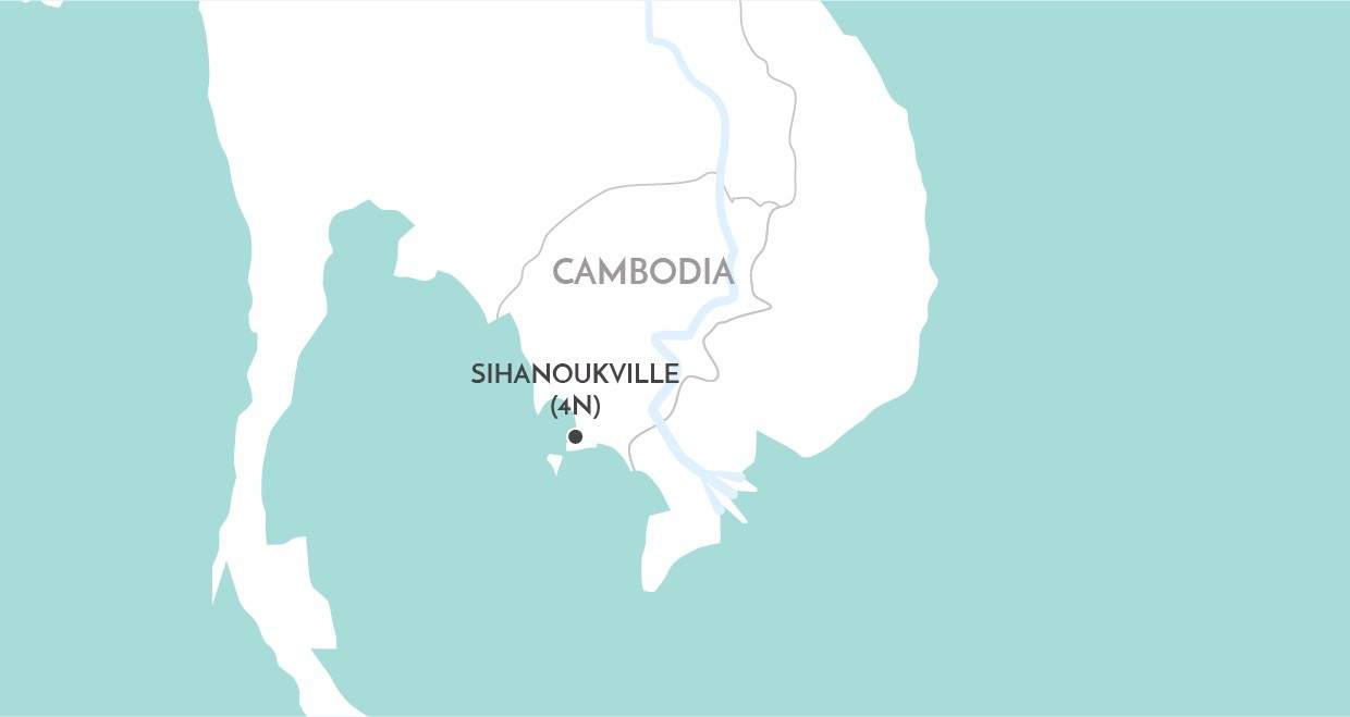 Sihanoukville Short Stay map