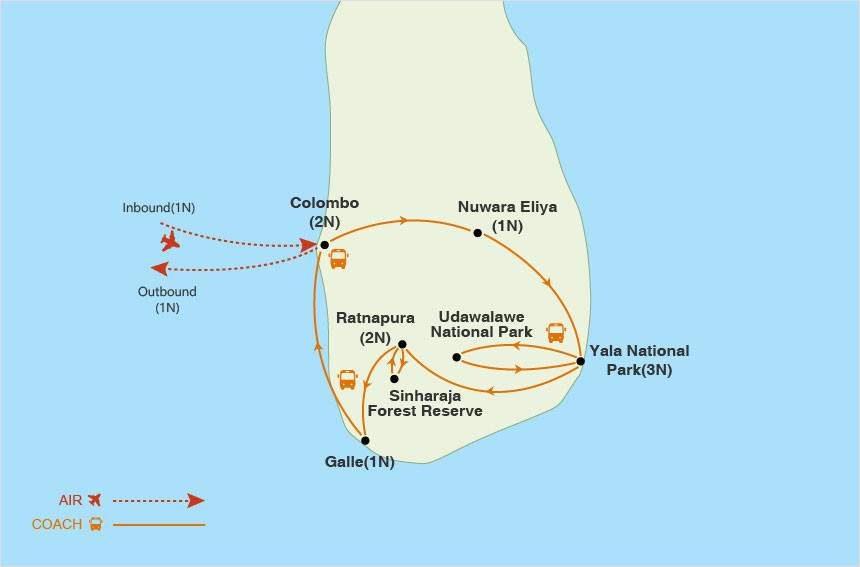 Sri Lanka at a Glance map