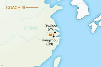 Suzhou & Hangzhou Short Stay map