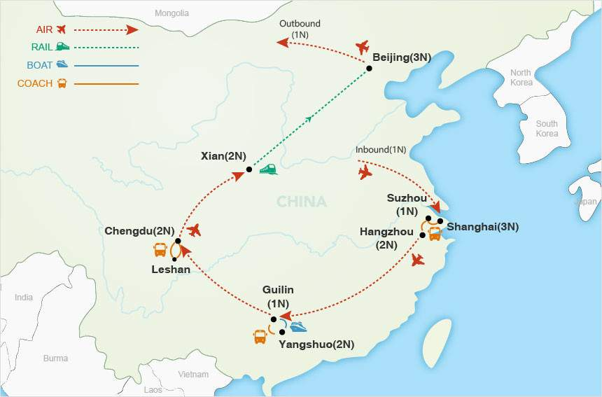 China Delights map