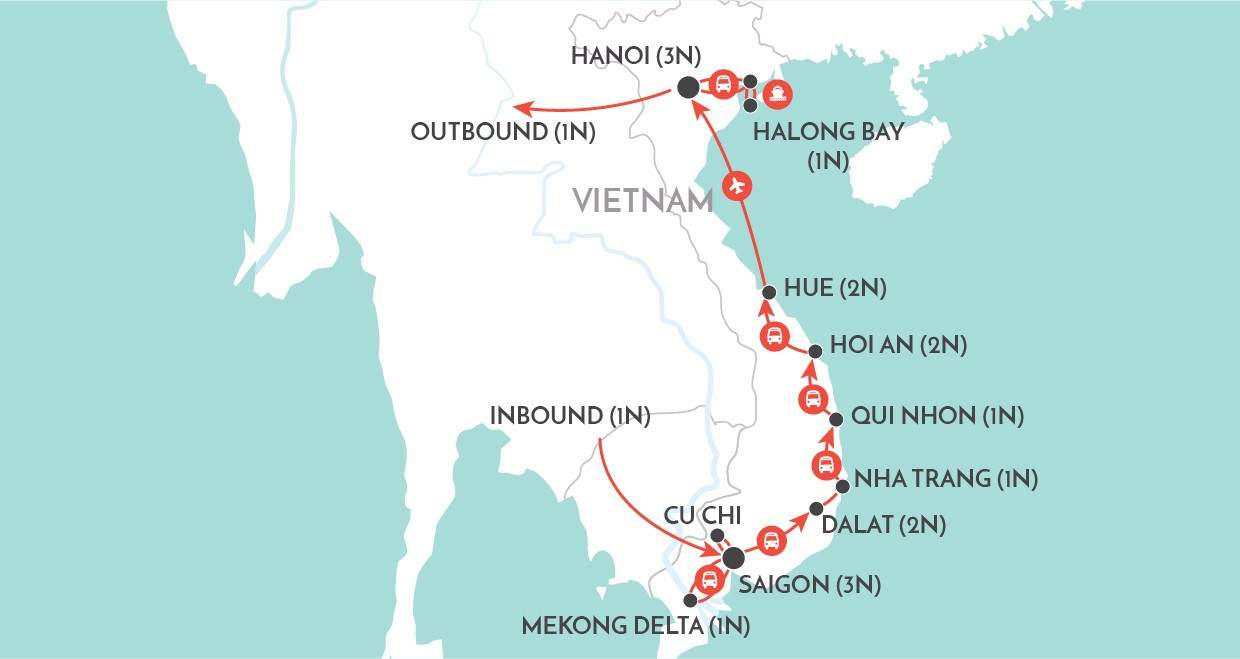 Vietnam Panorama map