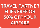 Travel Partner Flies Free or No Single Supplements