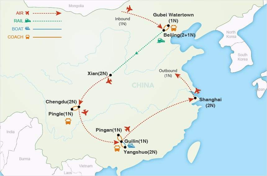 A China Adventure map