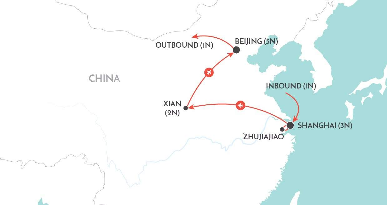 A China Experience Private Tour map