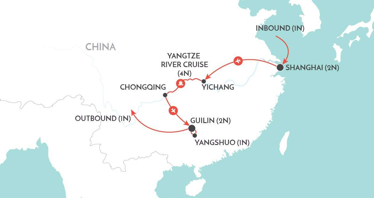 Yangtze in Style map