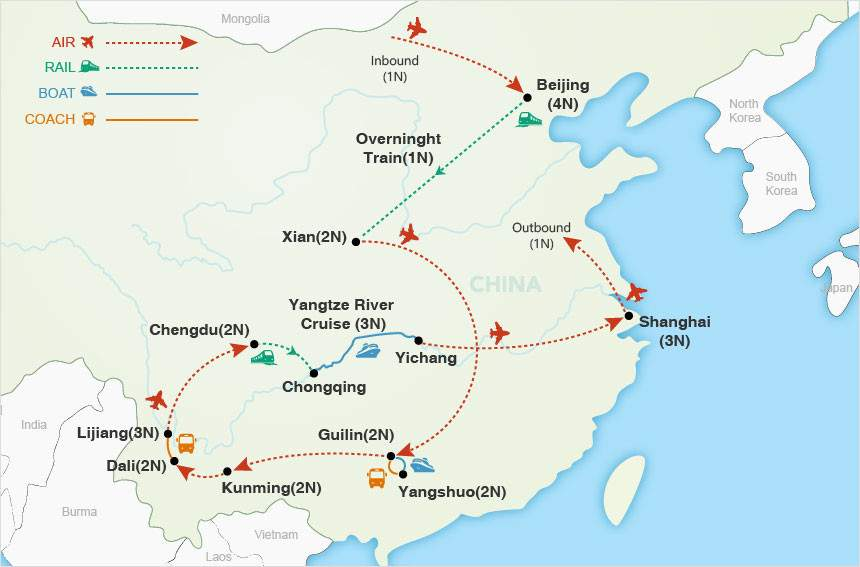 China: The Big One map