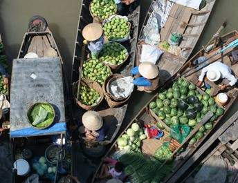 Cai Rang Floating Markets