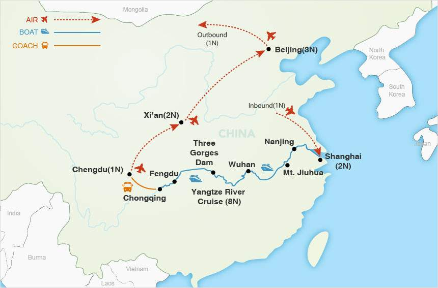 Grand Yangtze map