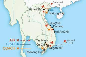 Vietnam at a Glance map